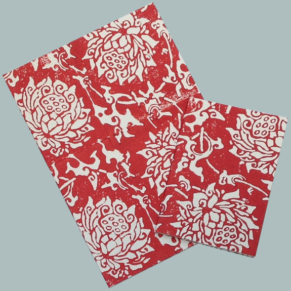 Red Chinese Peony notebook