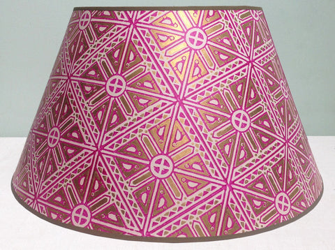 "18"" & 20"" lampshade of Vintage hand blocked Japanese paper"