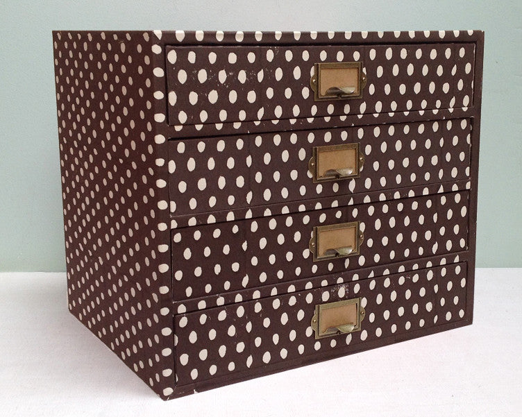 Brown Paper covered drawers