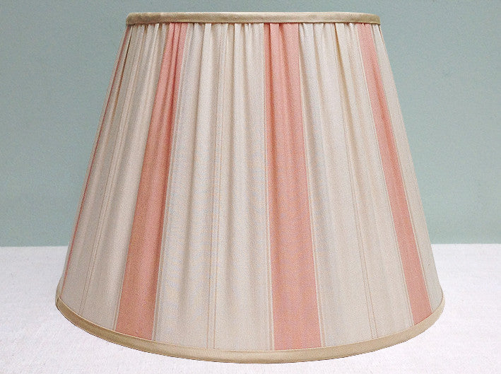 "12"" striped fabric lampshade"