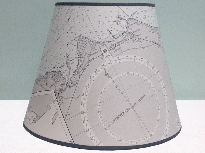 Sandy Hook Bay chart lampshade