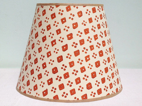 "10"" Burnt Orange, Diamond & Spot Lampshade"