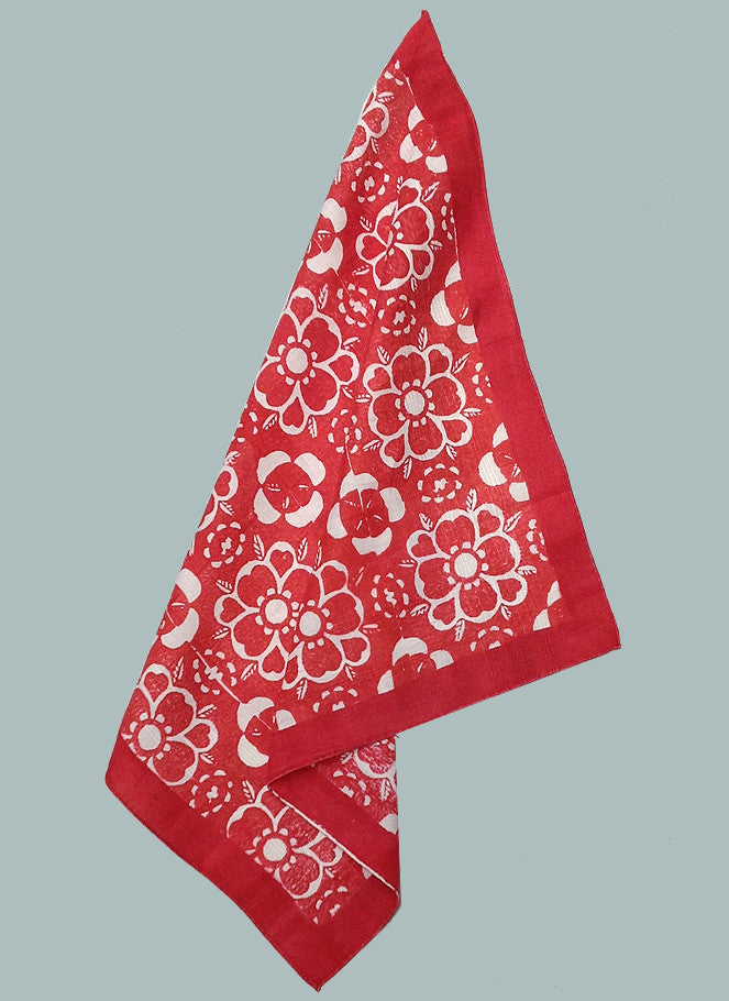 Red marbeth handkerchief