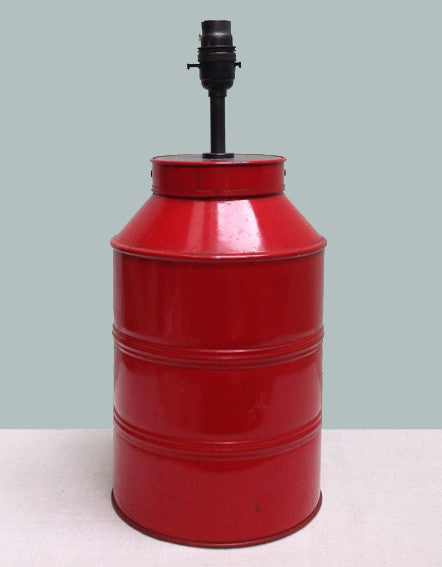 Red tea caddy lamp