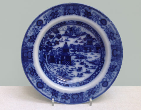 Blue & white transfer plate