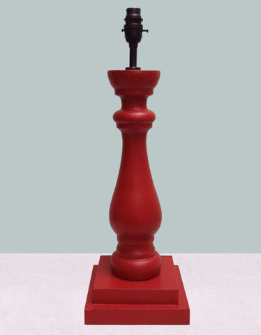 Red balustrade lamp