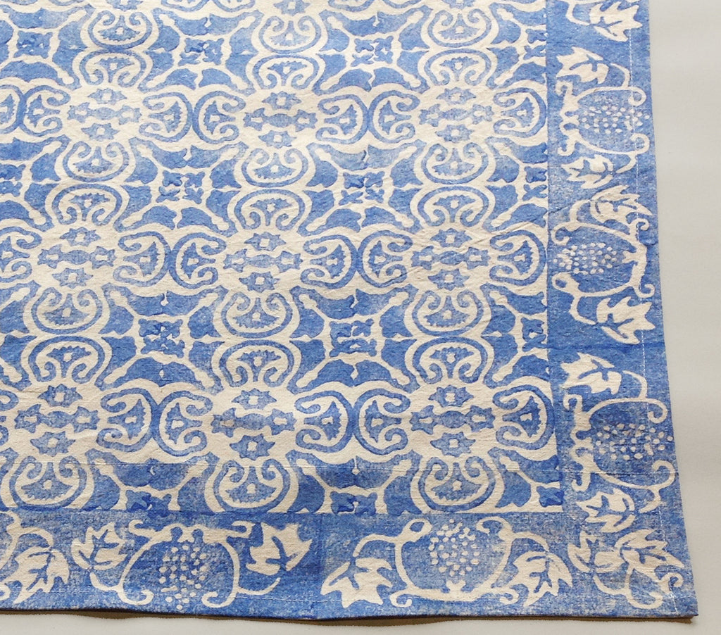 china blue, persian tile, tablecloth