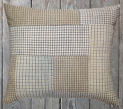 Check patchwork cushion