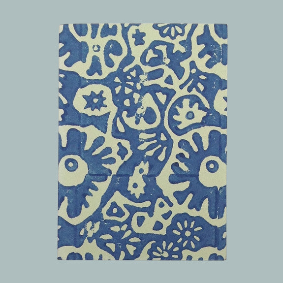 Navy Japanese Flower notebook