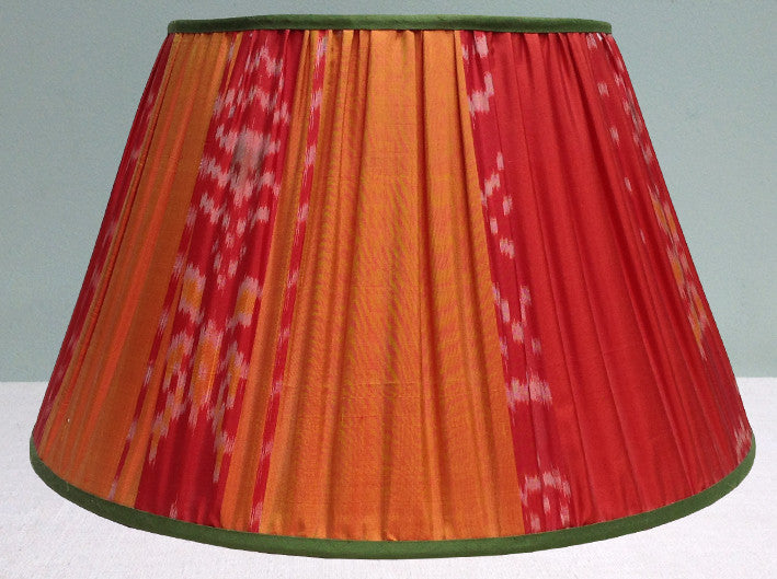 Burnese silk Ikat lampshade