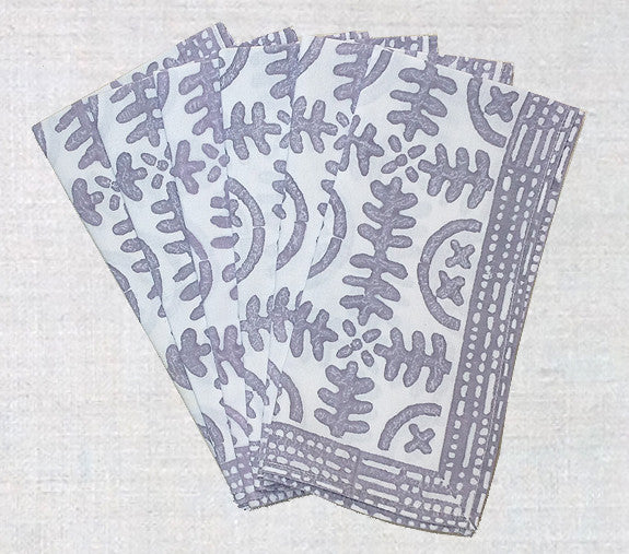 Set of 6 Angels grey idea napkins