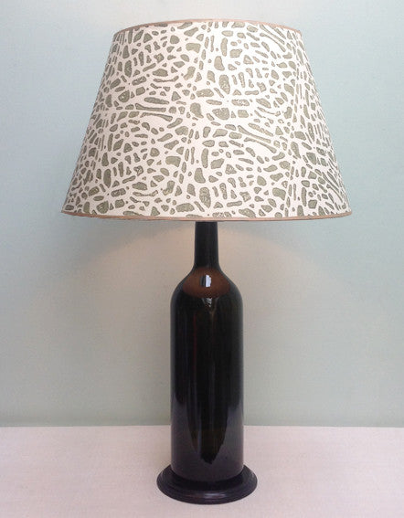 Large vintage bottle lamp