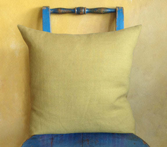Vegetable dyed linen cushion