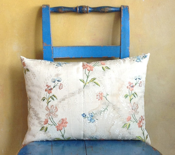 Spitafield silk cushion