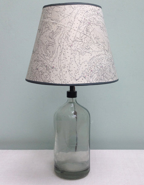 Wicomico river chart lampshade
