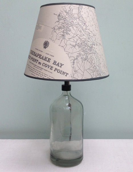 Chesapeake Bay chart lampshade