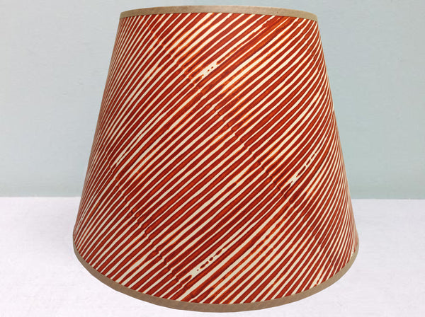 "10"" Burnt orange Stripe lampshade"