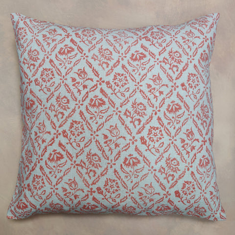 Elizabethan hand block cushion