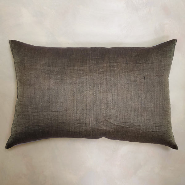 Woven gold thread cushion