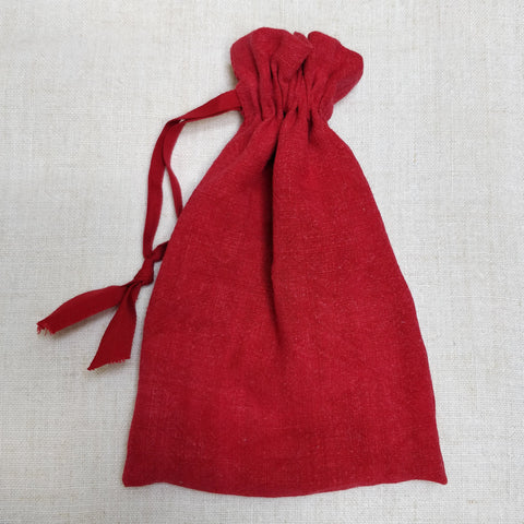 Red painted dorothy bag