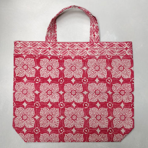 Blumen printed linen shopping bag