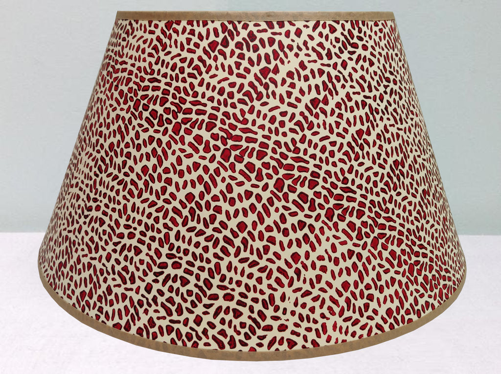 "16"" cracked pavement, purple-red mix lampshade"