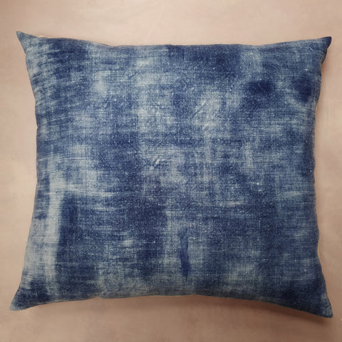 Hello sailor navy painted linen cushion