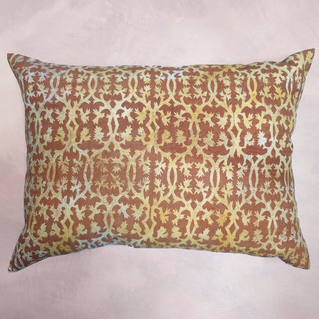 Spanish-Twist discharge printed cushion