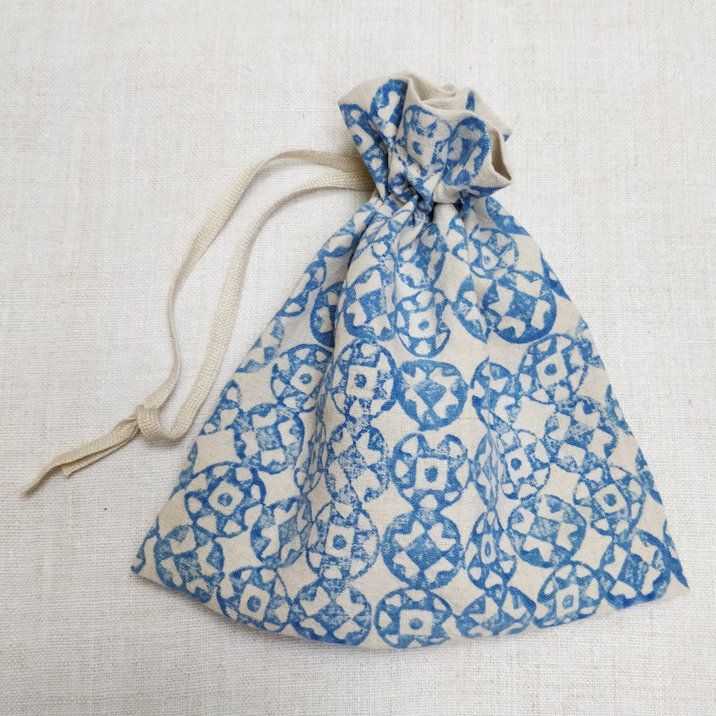 Hand block printed dorothy bag
