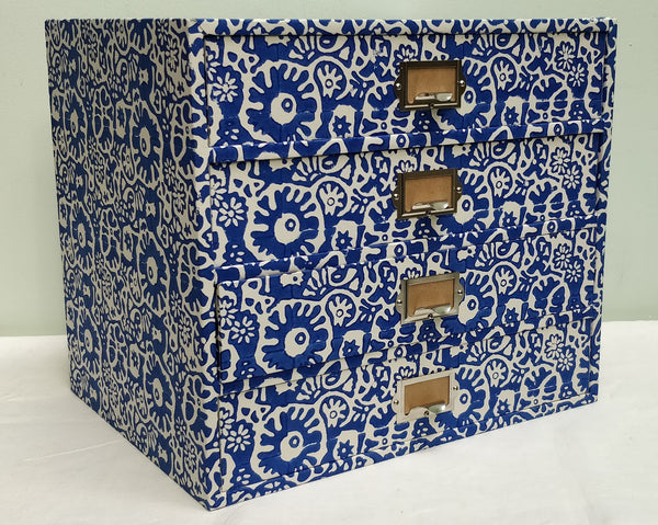 China Blue, Japanese Flower Drawers