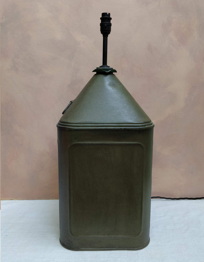 Green tin lamp