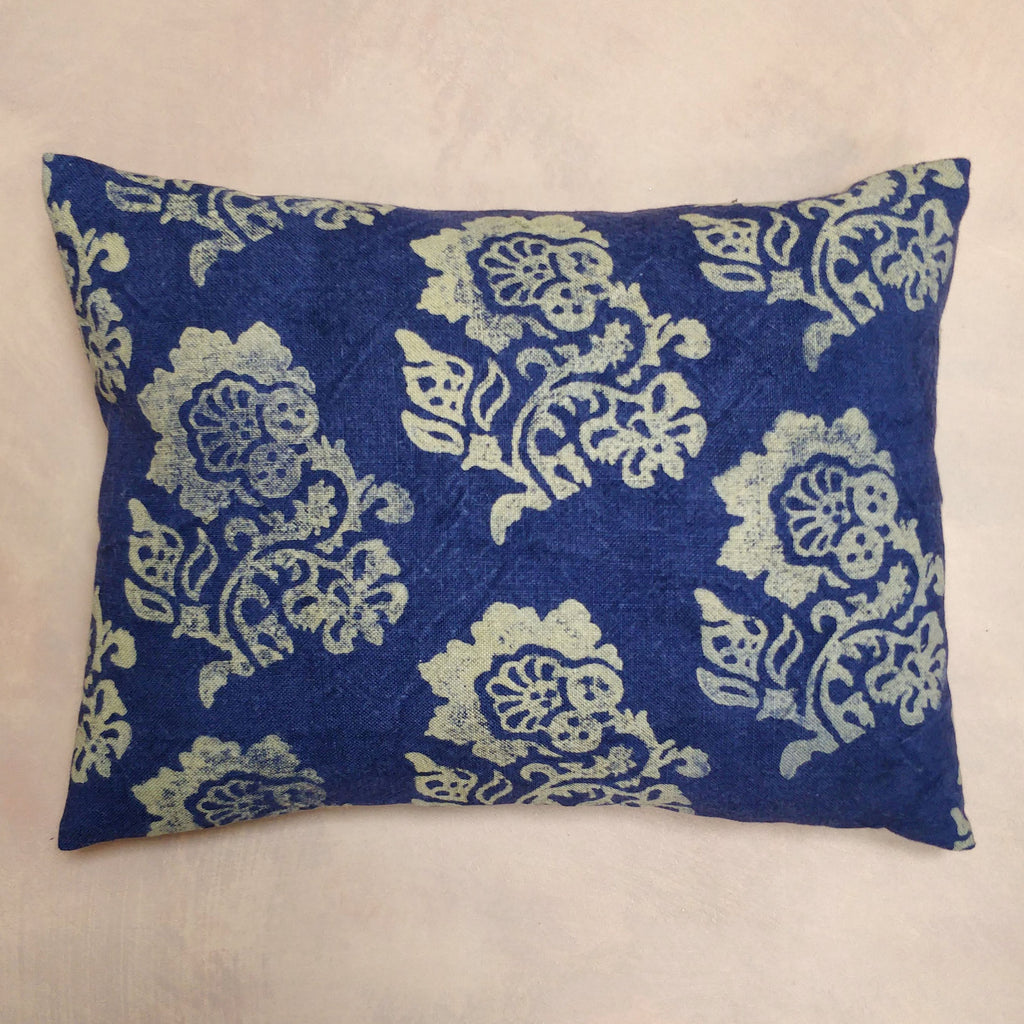 Hello Sailor Navy, hand painted discharge cushion