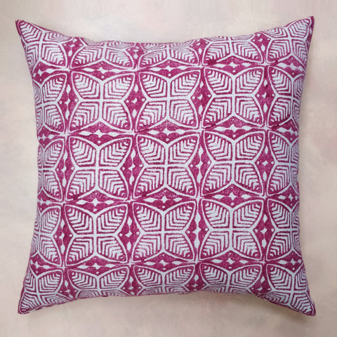 Red beech leaf cushion