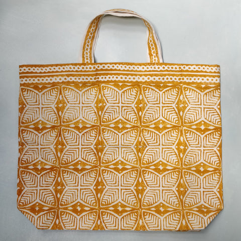 Beech leaf printed shopping bag