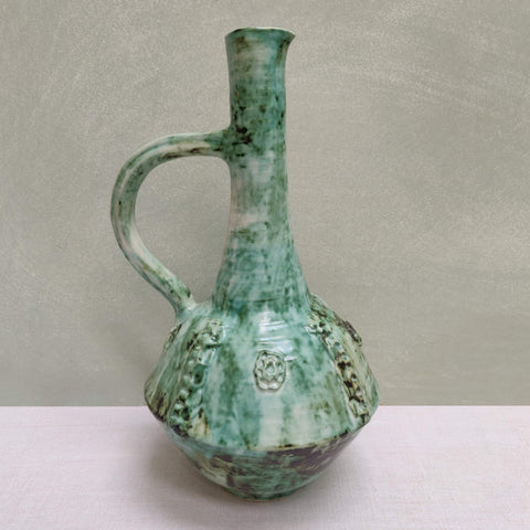 Unusual green jug