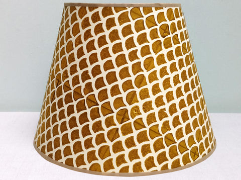 "10"" mustard doves breast lampshade"
