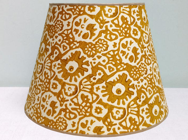 "12"" 1/2 strength Mustard Japanese flower lampshade"