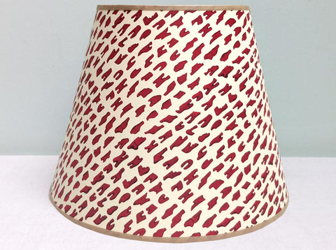 "10"" Purple-Red mix, Teeth, lampshade"