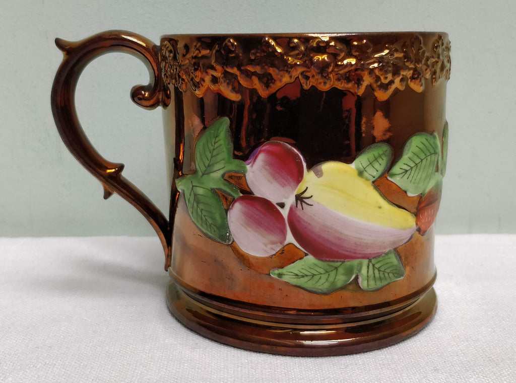 Copper lustre mug