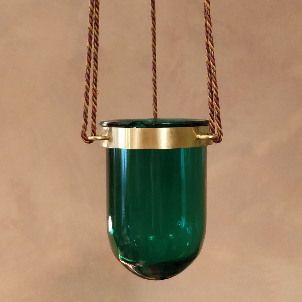 Green sanctuary lamp