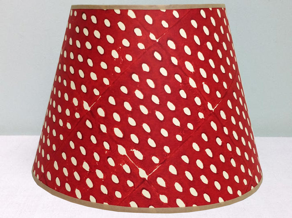 "12"" Purple red-mix closed see lampshade"