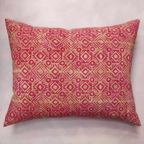 Discharge printed cushion