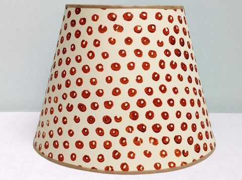 "10"" Burnt orange Luke's spot lampshade"