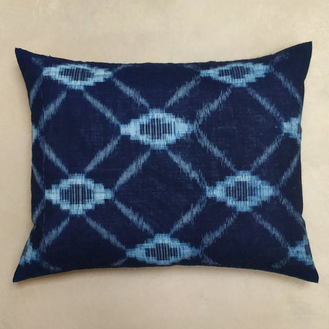 Japanese double Ikat cushion