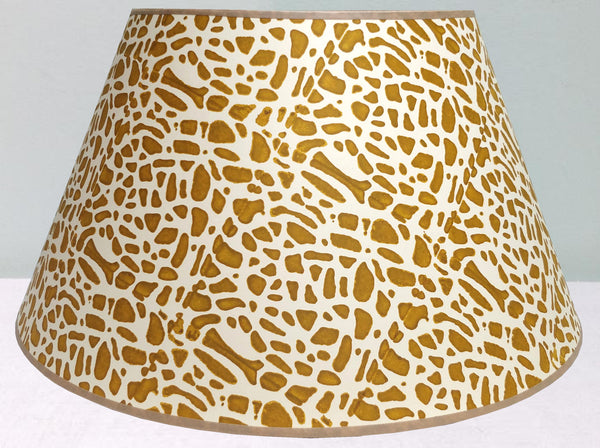 "23"" 1/2 Strength Mustard, Broken Crockery Lampshade"