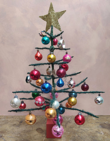 Large mohair christmas tree