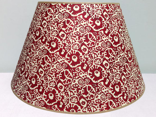 "23"" Christmas red, Japanese flower lampshade"