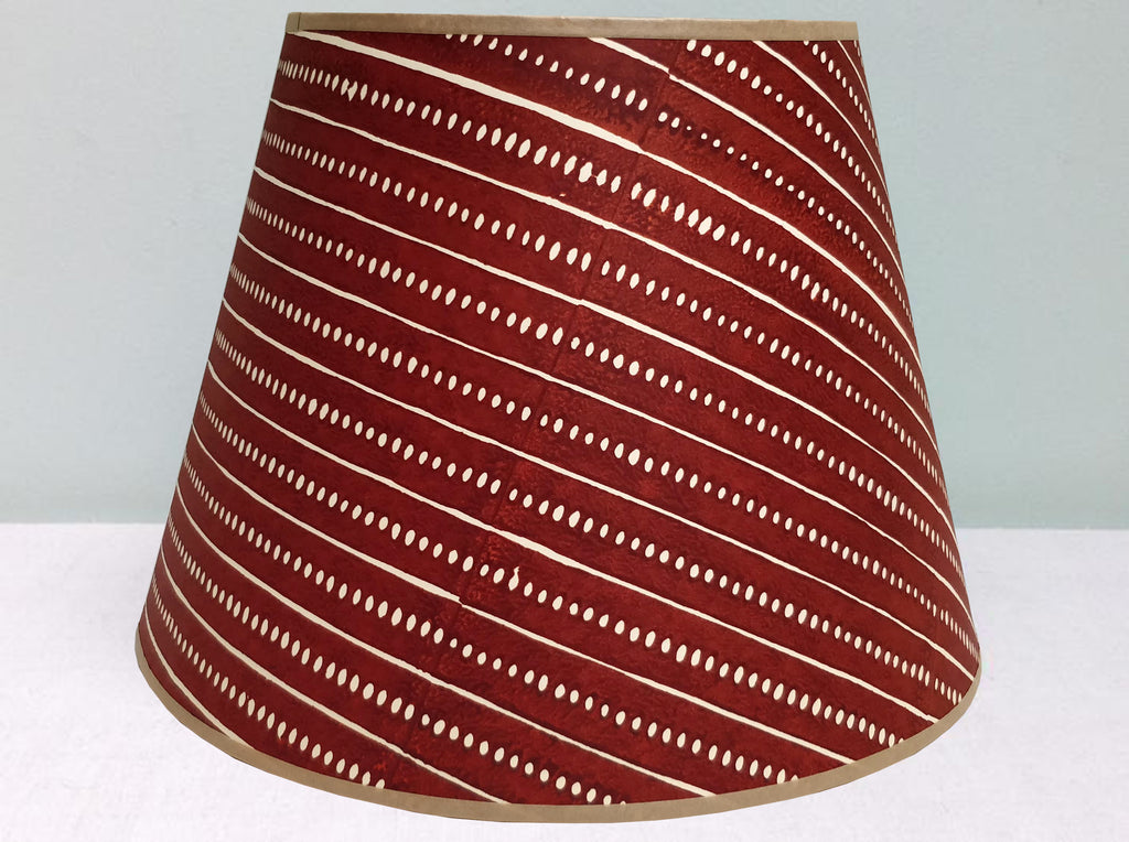 "12"" Fox, Stripe & seed lampshade"