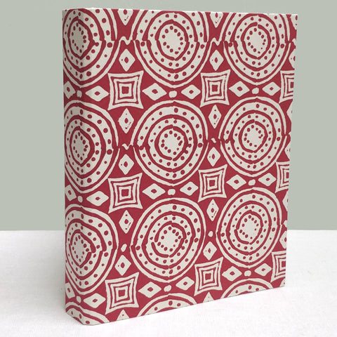 Purple-red mix, African circle ringbinder
