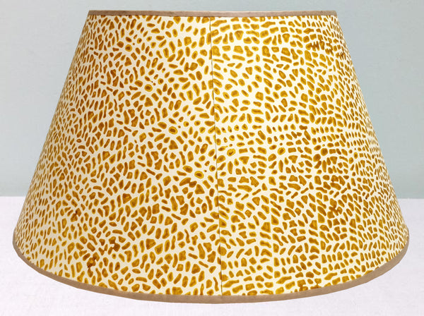 "16"" & 18"" 1/2 strength mustard Cracked pavement lampshade"